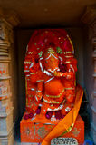 Red Statue Hindu God Ganesh Stock Photography