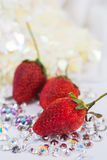 Red stawberry on dimond Royalty Free Stock Photo