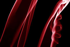 Red steam lines on the black background Royalty Free Stock Images