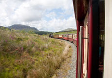 Red steam train stock photography
