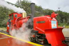 Red steam train Royalty Free Stock Images