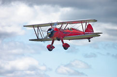 Red Stearman. Red 1943 N2S-3 Stearman Navy trainer royalty free stock photo