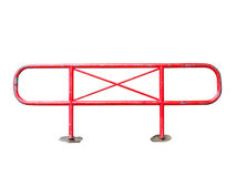 Red steel barrier isolated Royalty Free Stock Photos