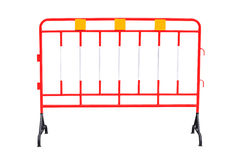 Red steel barrier Stock Photo