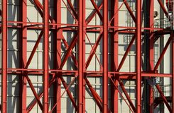 Red steel beams royalty free stock photos