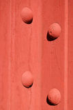 Red steel bolted girders Royalty Free Stock Photography