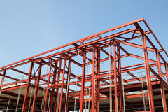 Red steel building fram Stock Image