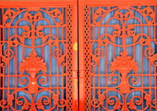 Red steel door Stock Photography