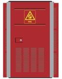 Red steel door Royalty Free Stock Image