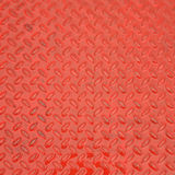 Red steel metal plate texture Stock Photography