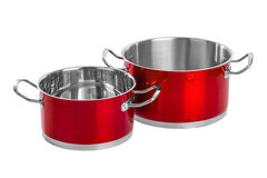 Red steel pans Royalty Free Stock Photo