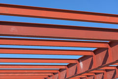 Red of steel structure. Royalty Free Stock Photos