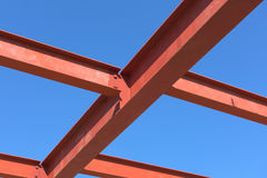 Red of steel structure. Stock Photos