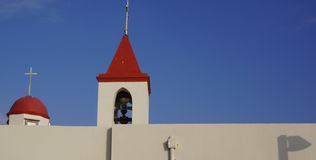 Red Steeples Stock Photo