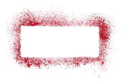 Red stencil frame Stock Images