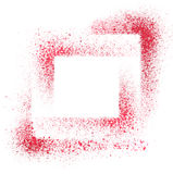 Red stenciled background Stock Photography
