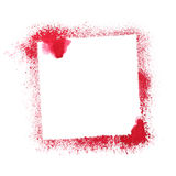 Red stenciled frame Royalty Free Stock Image
