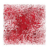 Red stenciled grunge square. Space for your own text - abstract raster illustration Royalty Free Stock Photos