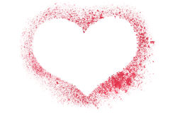 Red stenciled heart Stock Photo