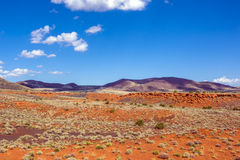 Red steppe and hills Stock Image