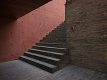 The Red Steps Royalty Free Stock Photo