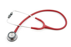 Red stethoscope Stock Photography