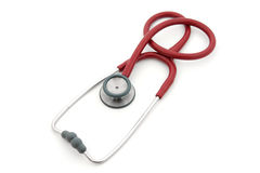 Red stethoscope royalty free stock photography