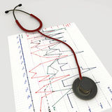 Red stethoscope Stock Images