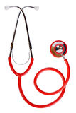 Red stethoscope Stock Image