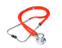 Red Stethoscope Isolated On White Background Royalty Free Stock Photos