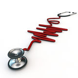 Red stethoscope Royalty Free Stock Photos