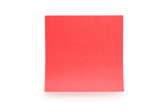Red stick note on white Stock Photography