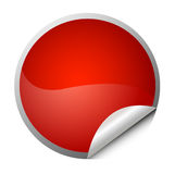 Red sticker. Element for design, vector illustration
