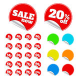 Red sticker Stock Image