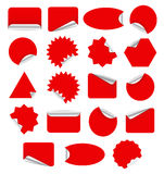 Red sticker Royalty Free Stock Photos