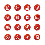 Red sticker document icons Stock Photos