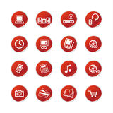 Red sticker home electronics i Royalty Free Stock Photography