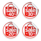 Red sticker sale Royalty Free Stock Image