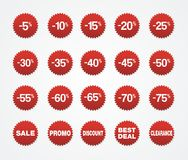 Red sticker sale Stock Image