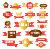 Red sticker Royalty Free Stock Photography