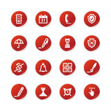 Red Sticker Software Icons Stock Image