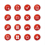 Red sticker viewer icons Royalty Free Stock Image