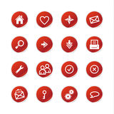 Red sticker web icons Royalty Free Stock Photography