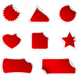 Red stickers Royalty Free Stock Photography