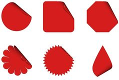 Red Stickers Royalty Free Stock Photo
