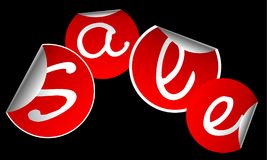 Red stickers for sale Stock Images