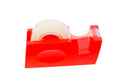Red Stickytape Holder isolated on white Stock Images