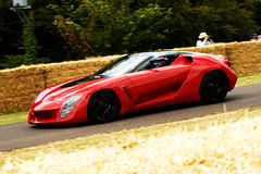 Red stile bertone mantide. At goodwood festival of speed stock photos