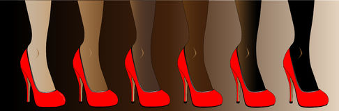 Red Stiletto Heel Shoes Royalty Free Stock Photo