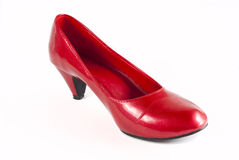 Red stiletto shoes Royalty Free Stock Photos
